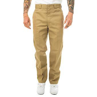 Pantalones de hombre dickies original ajuste pierna recta pantalón de trabajo dk000874khk