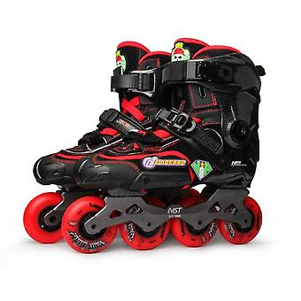 Adult Inline Skates, Diy Roller Skating Shoes, Flat Frame, Slalom Sliding, Free