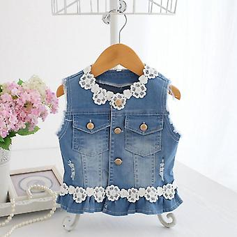 Baby Vests, Jeans Denim Lace Waistcoats, Outerwear, Spring Clothes, Kids