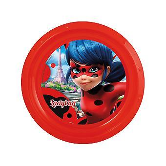 Assiette plate en plastique Ladybug 21 cm