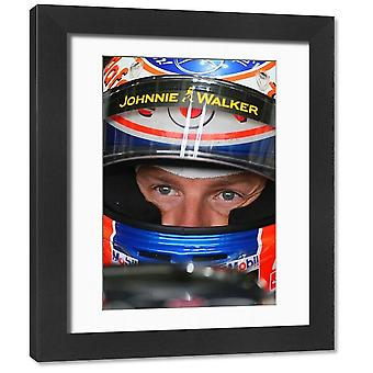 F1 British Grand Prix, Silverstone 2011 Jenson Button McLaren-Mercedes. Framed Photo. F1 British.