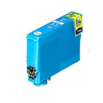 1 Cyan blækpatron til at erstatte Epson 502XLC kompatibel / ikke-OEM fra Go Inks