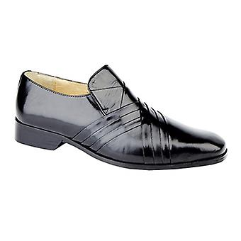 Montecatini Alphonso Mens Smooth Leather Loafers Black