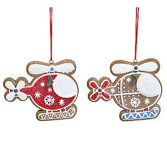 Gisela Graham 2 Helicópteros Decoração de Natal