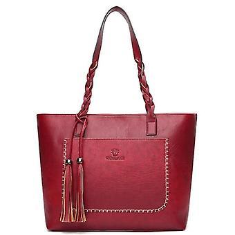 Large Casual Shoulder Bags, Leather Fringe Purse Handbag