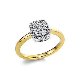 Luna Creation Promessa Ring Flera Sten Trim 1V671GW854-1 - Ringbredd: 54