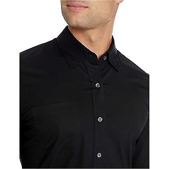 Brand - Goodthreads Men's Slim-Fit Long-Sleeve Wrinkle Resistant Comfort Stretch Poplin with Easy-Care