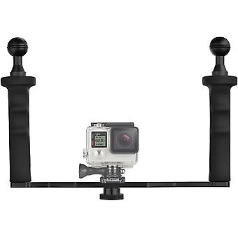 FengChun DF Aluminiumlegierung Dual Handgriff Video stabilisator für GoPro 6/5/4/3 + / 3
