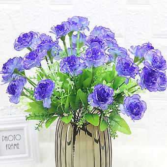 5Pcs人工花のカーネーションの花のホテルの家具の女性のための乾燥花偽の花の贈り物