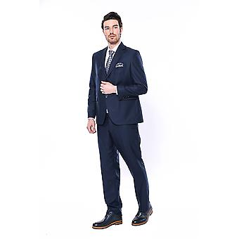 4 Drop navy blue polyviscose suit | wessi
