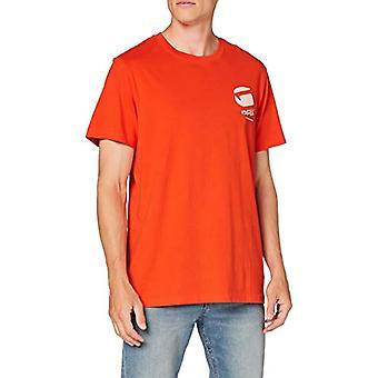G-STAR RAW Stor logotyp Tillbaka Grafisk Rak T-Shirt, Ljus syra 336 / B443, X-Large Mens
