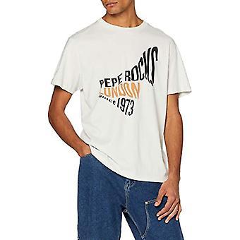 Pepe Jeans Berwick T-Shirt, Ivory (Chalk 837), One Size (Herstellergro and: Small) Men