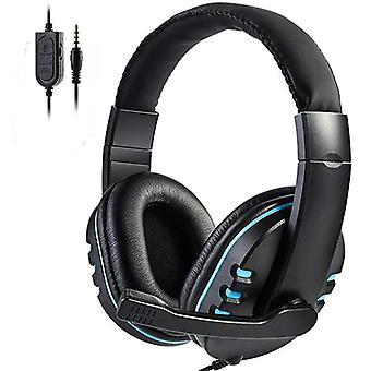 Stereo gaming -kuulokkeet langallinen pään yli pelaajakuuloke mikrofonin äänenvoimakkuuskuulokkeilla