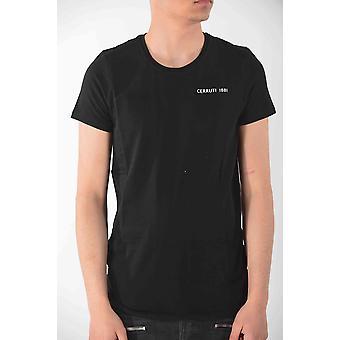 Heren Zwart Cerruti T-shirt met korte mouwen