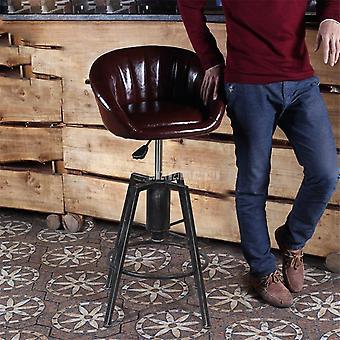 מאוור גב רך וגובה מתכוונן ברזל מסתובב כיסא צואה גבוה