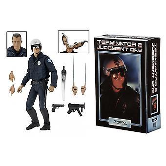 "Ultimate T-1000 Motorcycle Cop (Terminator 2) 7"" NECA Action Figure"