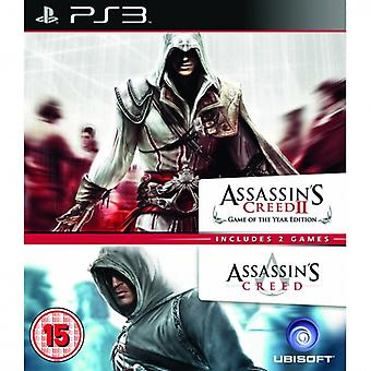 Ubisoft Double Pack Assassin's Creed 1 and 2 PS3 Game