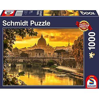 Golden Light over Rome 1000 Piece Jigsaw Puzzle