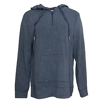 Koolaburra by UGG Women's Sweater Vintage Wash 1/4 Zip Hoodie Blue A386470