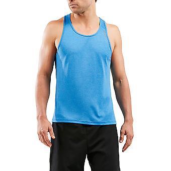 2XU X-Vent Mens Running Vest, Blue