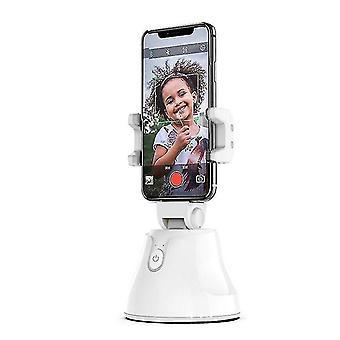 bílá Přenosná automatická inteligentní selfie tyč all-in-one, 360'ã chytré sledování (bílá)
