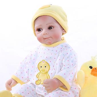 52Cm nouveau-né doux bébé visage réaliste bebe poupée renaissant bébé jaune robe de canard doux câlin bébé de haute qualité poupée de collection