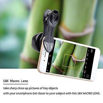 Apexel HD 18x Makro Obiektyw Fotografia Telefon komórkowy Obiektyw z klipsem Apl-hd18x