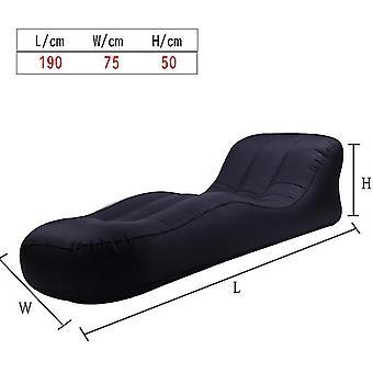 Oppustelige Lounger Air Sofa Hængekøje-bærbare, vand Proof & Anti-air utæt design (sort)