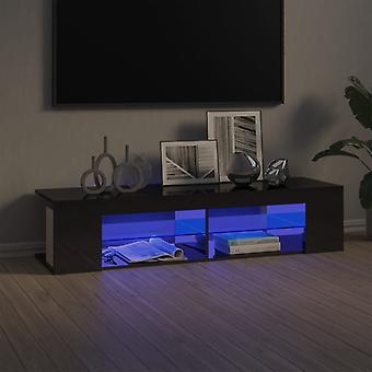 """vidaXL ארון טלוויזיה עם נורות LED גבוה מבריק אפור 135x39x30 ס""""מ"""
