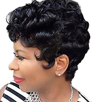 Brand Mall Wigs, Lace Wigs, Realistic Fluffy Short Hair Curly Hair Black Personality Wig
