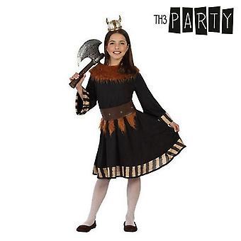 Fantasia para crianças vikings femininas