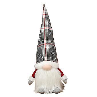 Świąteczny gnom z nocnymi lampkami Szwedzki tomte w kratę Kapelusz Rudolph Faceless Plush Doll Home Ornaments