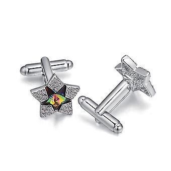 Joias com elementos Swarovski Crystal Star Men Cufflinks