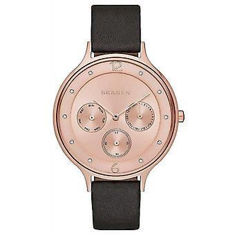 Skagen SKW2392 Anita Rose Gold-Tone Leather Ladies Watch