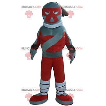 Maskottchen REDBROKOLY.COM Roboter-Spielzeug rot und grau
