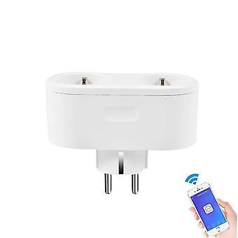 Eluttag wifi smart strömremsa med 4 eu-kontakt och 4 usb-laddningsport sm157609