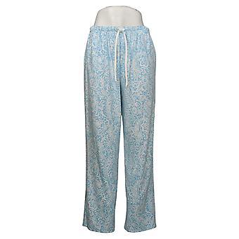 Aria Women's Novelty Printed Fleece Pajama Pants Blue 631033