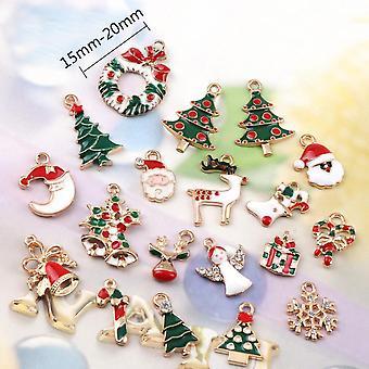 Kerst hanger charme, 50 stuks kerst charmes bulk zink legering xmas hangers voor sieraden maken diy ambachten kettingen oorbel, 15-20mm