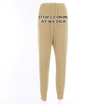 Letter Printed Sweat Pants-cotton Joggers