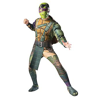 Donatello Don Donnie Teenage Mutant Ninja Turtles TMNT Superhero Men Costume