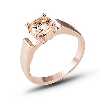 Womens Vintage Rose Gold Filled Round Ring