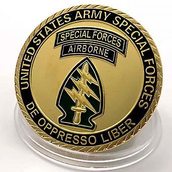 Insigne de l'US Air Force Médaille plaquée or Pièce de collection Pièce d'or Pièce commémorative chanceuse