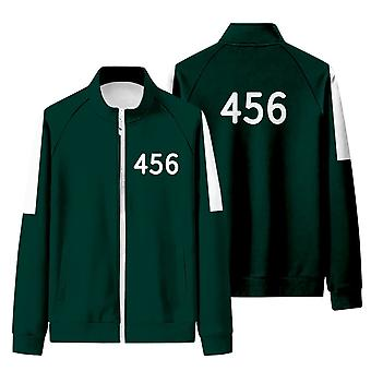 Iwa59 Squid Game Matching Tracksuit With Stand-up Collar And Zip-up Sweatshirt