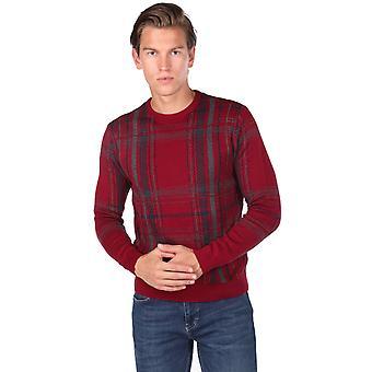 Crew Neck Claret rød genser for menn