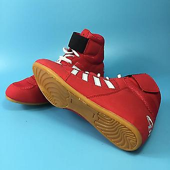 נעלי היאבקות אגרוף מקצועיות- גומי Outsole נעלי לחימה נושמות