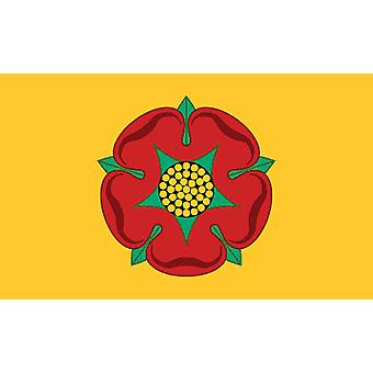 5ft x 3ft Flag - UK - Lancashire Rose