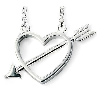 925 Silver Plated Rhodium Cupid Arrow Necklace Trend