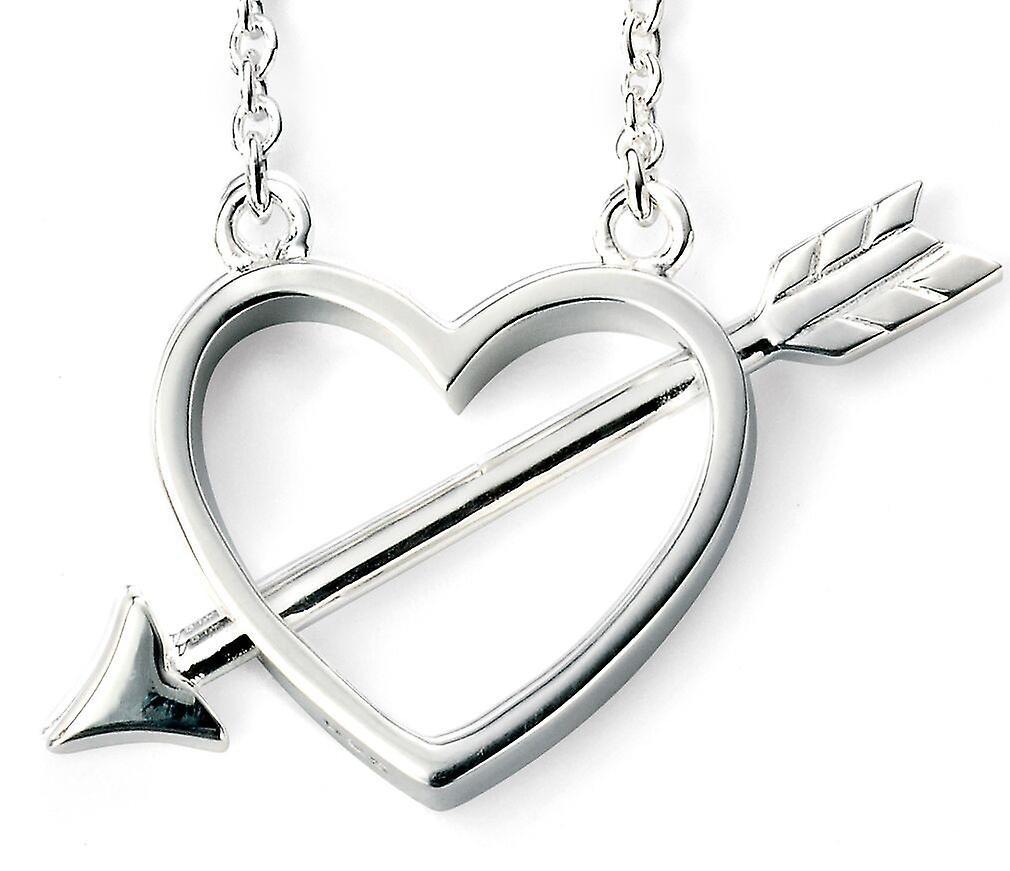 925 Silver Plated Rhodium Cupid Arrow Necklace Trend