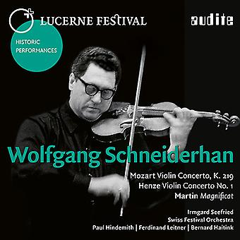 Henze / Martin / Mozart / Schneiderhan / Seefried - Schneiderhan: Lucerne Festival X [CD] USA import
