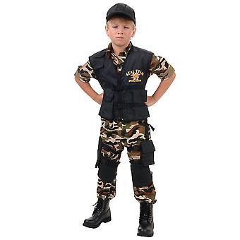 Uszczelnienia zespołu Deluxe Militaria Army żołnierz policji Jednolita książka tygodnia chłopców kostium